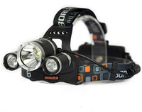 6000 Lumens Headlight 3 LED Cree XM-L T6 + 2R5 Head Lamp High Power LEDs + 2 * 18650 batterie + / / AU / UK Chargeur US + chargeur de voiture UE