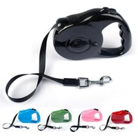 Wholesale 5m Retractable Pet Leash Lead One handed Lock Training Lead Puppy Walking nylon Leash Adjustable Dog Collar for Dogs Cats