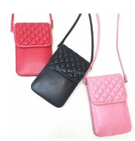 Wholesale blue bag sheep - Vintage Women Girls Diamond Lattice cell phone Handbags sheep skin geniune leather Ladies feminina mini Shoulder Bags mini Clutch