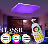 Wholesale led ceiling color changing - Modern Led Ceiling Lights Living Room 2.4G Remote Group Controlled Dimmable Color Changing home Ceiling Lamp Luminaire Light