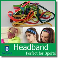 Wholesale Hair Band Silicone - 2017 Wholesale fashion solid Color Plain Elastic Headband and Hair Band free DHL 30 color