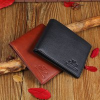 Wholesale Gold Pocket Squares Wholesale - Brand new Mens High Quality Leather Wallet Pockets Card Cente Bifold Purse Coin Holder For Men