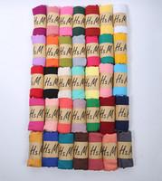bufandas coreanas para mujeres al por mayor-1 UNIDS otoño invierno mujer coreana de color puro bufanda de las señoras de algodón y lino bufanda 20 colores enorme 180 * 75 cm venta caliente envío gratis