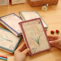 Wholesale Diary Book Flower - Wholesale- Vintage Flower Notebook Diary Book Stationery Office School Supplies