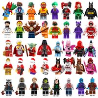 Wholesale Spiderman Toy Building - Minifig Super Heroes Avengers Spiderman Star Wars Harry Potter Hobbit Super Hero Mini Building Blocks Figures Toys OTH549