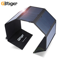 Wholesale Solar Charger Bag For Phone - Original GBtiger 40W Dual Outputs Sunpower Solar Charger Panel Power Bank Folding Charging Bag Super Compact with Two Free Hooks hot +B