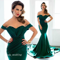 Wholesale Emerald Ruched Dress - 2017 Emerald Green Evening Dress Long Gowns For Curvy Body Prom Party Dress Formal Event Gown Plus Size vestido de festa longo