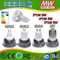Wholesale E14 5w Led Bulb Light - High power CREE Led Lamp 3W 4W 5W Dimmable GU10 MR16 E27 E14 GU5.3 B22 Led Light Spotlight led bulb downlight lamps