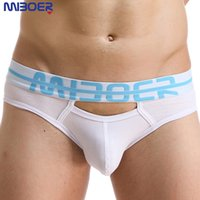 Wholesale sexy lingerie open front - Mens Open Front Underwear Men Tanga Crazy Gay Lingerie Underpants Pouch Calzoncillos Hombre Mens Cotton Briefs Brand