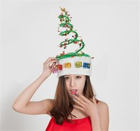 Wholesale Tinsel Xmas Decorations - Tinsel Spring Christmas Hat 1pc Headband Presents For Christmas Xmas Party Santa Fancy Dress Costume Hat Holiday decorations Headgear
