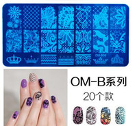 Wholesale Design Plates For Nail Art - Nail Stamping Plates Nail Art Stamp Template Manicure Nail Tools 20 designs for choose