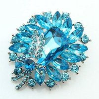 Wholesale Rhinestone Blue Moon Pin - The latest version of the 2016 new South Korean female models blue glass stone butterfly brooch alloy collar pin brooch jewelry cash offer