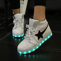 online Shopping Usb Light Shoes - Men Women Luminous Sports Running Shoes High Quality LED Lights USB Charging Star Colorful Shoes Athletic Outdoor Sneakers Shoes