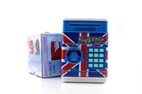Wholesale Atm Piggy Banks - Simulation of ATM piggy bank password mini electric automatic suction volume money currency coloured drawing or pattern piggy bank number ba