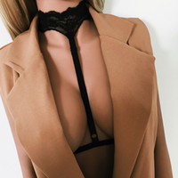 Wholesale Full Body Lingerie - Elliehouse 2017Sexy Women Gothic Elastic Harness Cage Bra Crop Top Erotic Lingerie Lace Halter Strappy Hollow Bra Bustier Bandage Body Belt
