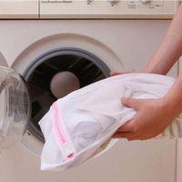 Wholesale Silk Bra Lingerie - Wholesale- Clothes Washing Bag Laundry Bra Sheet Down Jackets Aid Lingerie Mesh Net Wash Bag Pouch Basket For Washing Machine 3 Sizes