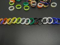 Wholesale E Cigarette Mod Accessories - E Cigarette Accessories Silicone Rubber Vape Band Beauty Ring Bands for Mods Decorative and Protection Silicon Vape Rings Mod Resistance