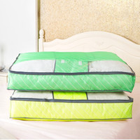 Wholesale Free Quilt Fabric - Free Shipping Water Wash Soft Storage Box Oxford Fabric Large Quilt Clothing Storage Bag Sorting Bags Dust Bag Receive Tools