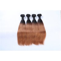 Wholesale Cheap Real Remy Hair Extensions - Ombre Malaysian Remy Hair Weaves Virgin Grade 10A Straight Human Real Hair Extensions for Cheap 3 Pieces lot 33-12