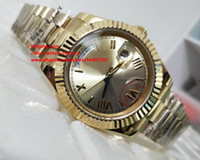 Wholesale Watch Roman Gold - Luxury High Quality Watch Asia 2813 Movemen 40mm Day-Date 18kt Yellow Gold Roman Dial 228238 Sapphire Mechanical Automatic Mens Watches