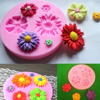 Wholesale Sugar Craft Flowers - New Arrival! Popular Pink Silicone Flower Mold Cake Decorating Chocolate Sugar Craft Mould Tasteless Durable KDB_207