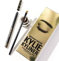 Wholesale Shade Gel - New Hot Sale products Kylie Kyliner Cosmetics Kylie EYelier kit 3 shades brand new in box DHL free Kylie Makeup