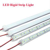 iluminación de tira de aluminio al por mayor-50cm LED Bar luces DC 12V SMD 5730 LED rígido duro de aluminio shell + PC tapa LED gabinete tira dura 36LEDs