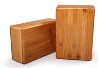 Wholesale Natural Wood Blocks - Wholesale-Healthy Bamboo wood Natural wooden yoga brick Yoga block Yoga Fitness brick