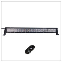 Wholesale led light kits for boats - 32 inch 300W 5D Curved CREE LED Work Light Bar for Tractor Boat OffRoad 4WD 4x4 Truck SUV ATV Spot Flood Combo Beam 12V 24v with Wiring Kit