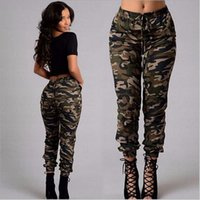 ingrosso pantaloni militari sciolti-Nuova estate Camouflage Womens Pants Women Military Fashion Printing Sport all'aperto allentati pantaloni casual arrampicata Formazione Pant