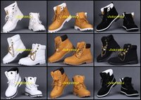 Wholesale Cheap Heels For Winter - Cheap Double Tongue Mens Ankle Boots Men Gold Chain Lace Waterproof Work Hiking Shoes For Outdoor Winter Snow Casual Sneakers