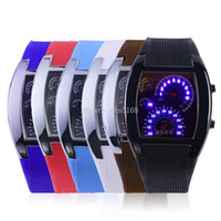 Wholesale Military Aviation - Digital LED Backlight Military Wrist Watch Wristwatch Sports Meter Dial Watches For Men New Fashion Aviation Turbo Dial Flash LED Watch Gift