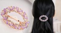 Wholesale Pin Diamante - Wedding Accessories Bridal Hairpins Flower Crystal Rhinestone Diamante Hair Pins Clips Bridesmaid Women Hair Jewelry