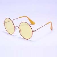 Wholesale Bright Brown - Newest Designer Sunglasses 3592 Round bright-eyed Summer sun glasses Women men glasses 55mm metal Glass with case