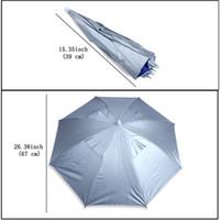 ingrosso ombrelloni in nylon-Pesca all'aria aperta Pieghevole Testa elastica Anti-Uv Cap cappello da pesca Pesca Escursionismo Spiaggia Copricapo Viaggiare in viaggio