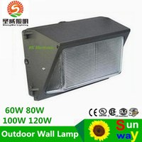 Wholesale Out Door Lamp - out door lamps recessed 100W 120W 110lm w led retrofit kits wall pack light fixtures led shoebox light Cree led UL DLC