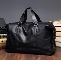 Wholesale Manufacturers Pu Leather - Manufacturers selling brand new fashion leisure men leather bag luggage waterproof wear trend of large capacity of men travel bag handbag