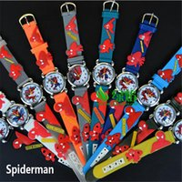 Wholesale Minions Watches - 20 styles Hot Sale Cartoon Minion Avenger Bikachu Spider-Man..Kids Boys Girls Gifts Watch Quartz Silicone Wristwatch 170815 170815