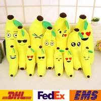 Wholesale Banana Cushion Pillow - High Quality Banana Plush Doll Pillow Cushion Emoji Smiley Pillow Cartoon Stuffed Sofa Chair Lumbar Pillow XMAS Toys Gifts WX-T41
