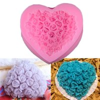 Wholesale Clay Mold Food - Lots Rose Food Grade Silicone Mold For Polymer Clay Crafts Cake Decorating Diy TY1802