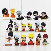 Wholesale Action Figure Itachi - High quality 18pcs lot Naruto Uchiha 4-6cm Sasuke Uchiha Itachi Kakashi Jiraiya Action Figure Toys Gift for Kids