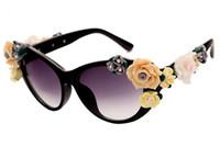 Wholesale Sunglasses Flowers - Sunglasses For Women Fashion Sunglass Womens Luxury Sunglases Oversized Sun Glasses Ladies Rose Roses Flower Designer Sunglasses 9J2T60
