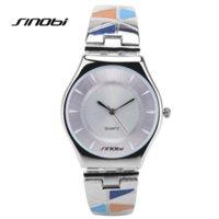 Wholesale Sinobi Watches Quality - SINOBI Women Watches Waterproof Relogios Feminino Fashion High Quality Pink Ladies Watch Bracelet Quartz Female Wristwatch AA080