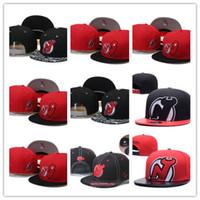 Barato NHL New Jersey Devils Snapback sombreros de los hombres bordar  logotipo del equipo Deportes ajustables gorras de hockey sobre hielo Hip  Hop visera ... 5ec3a5658cf