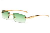 Wholesale Cheap Acrylic Cases - 2017 brand designer sunglasses gold silver frame glasses green lenses full frame cheap vintage retro mens sunglasses eyeglasses with case