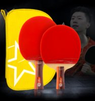 Wholesale Dhs Carbon - DHS Double Happiness Recreational Table tennis bat Two load 2stars,3stars Short Handle,Long Handle certified products Official authorization