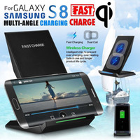 Wholesale Galaxy Nexus Phone - QI Wireless Charger For Samsung Galaxy S8 Plus s6 s7 note 8 Phone Wireless Charger Fast Charging For Nexus 6 5V 2A Universal
