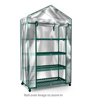 Wholesale Plant Greenhouse on Wheels with Clear Cover Tiers Rack Stands Indoor Outdoor Portable Solution Kit for Home Herb and Flower Garden