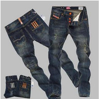 Wholesale Denim Tube - Autumn and winter jeans men's straight tube straight tube young han edition autumn men's trousers