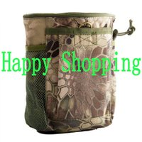 Wholesale Magazine Dump Pouch - Rattlesnake Camo Magazine Recovery Dump Pouch Gear Compact Airsoft Molle Hunting Bag Pouches